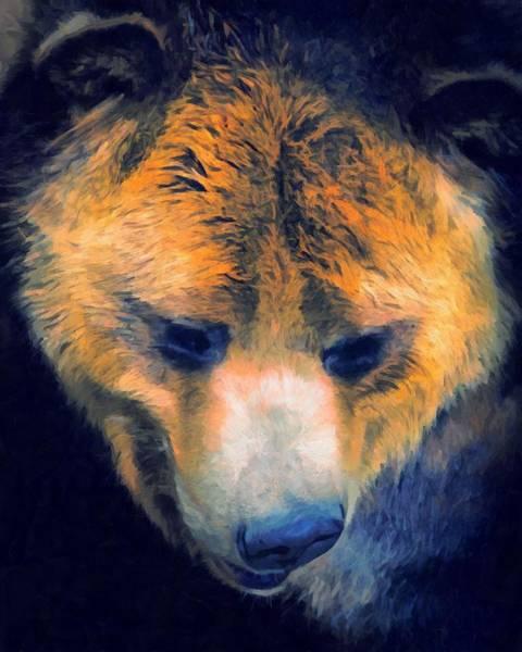 Colorado Wildlife Digital Art - The Griz by Ernie Echols