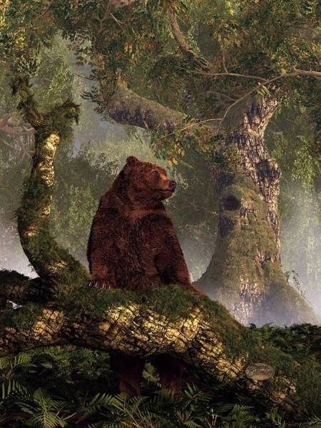 Digital Art - The Grizzly's Forest by Daniel Eskridge