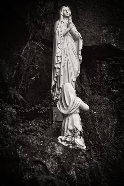 Bernadette Photograph - The Grotto - Our Lady Apeared 18 Times by Image Takers Photography LLC - Carol Haddon