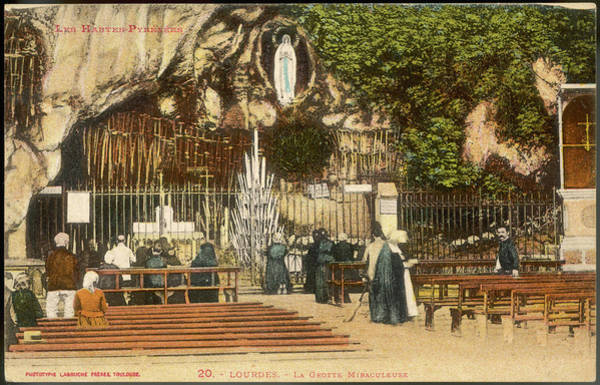 Bernadette Photograph - The Grotto Of Massabielle by Mary Evans Picture Library