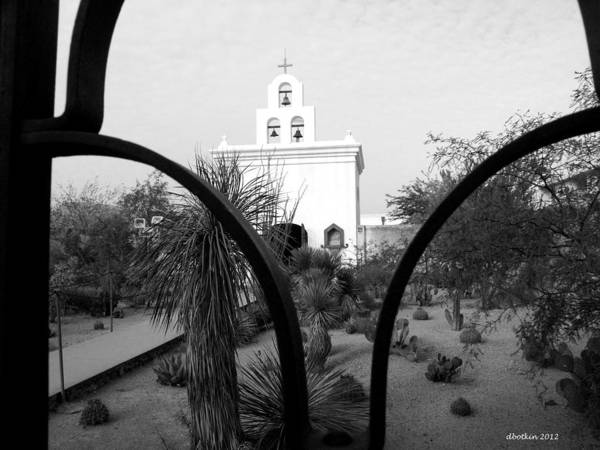 Misson Photograph - The Grounds Of San Xavier by Dick Botkin