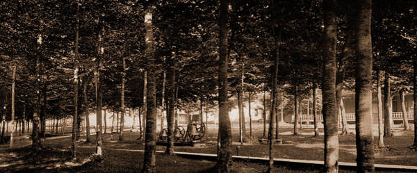 Michigan Drawing - The Grove At Bay View, Michigan, Parks, United States by Litz Collection