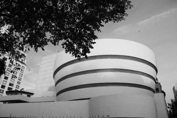 Photograph - The Guggenheim Museum In Black And White by Rob Hans