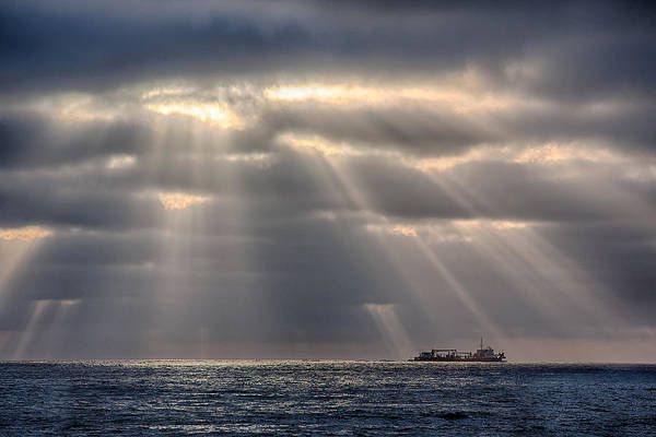 Tug Boat Photograph - The Guiding Light by Peter Tellone
