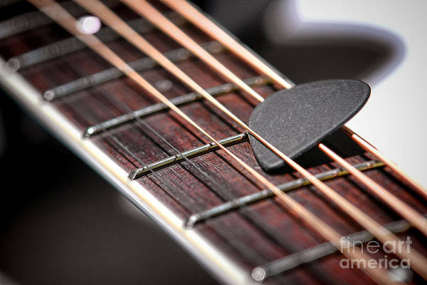 Guitar Neck Photograph - The Guitar Pick by Olivier Le Queinec