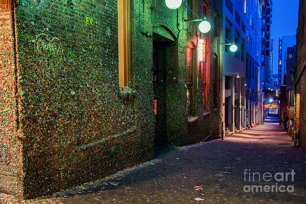Photograph - The Gum Wall by Eddie Yerkish