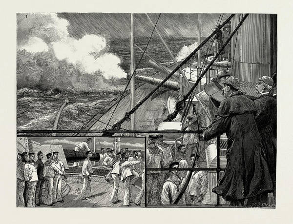 Wall Art - Drawing - The Gunnery Trials Of The Latest Ironclad by Litz Collection