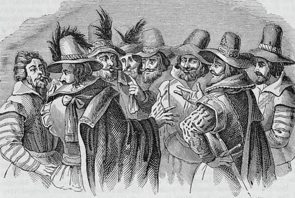 1604 Photograph - The Gunpowder Conspirators by George Bernard/science Photo Library