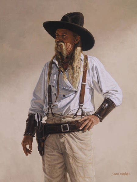 Painting - The Gunslinger by Ron Crabb