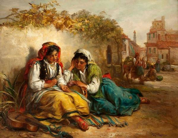 Wall Art - Painting - The Gypsies by Thomas Kent Pelham