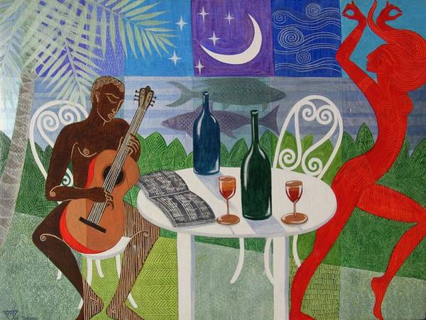 Wall Art - Painting - The Gypsy And The Troubadour by Jennifer Baird