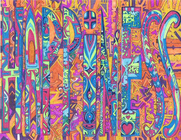 Wall Art - Drawing - The Hado Of Happiness by Phable Omsri