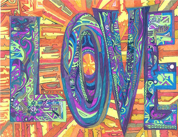 Wall Art - Drawing - The Hado Of Love by Phable Omsri