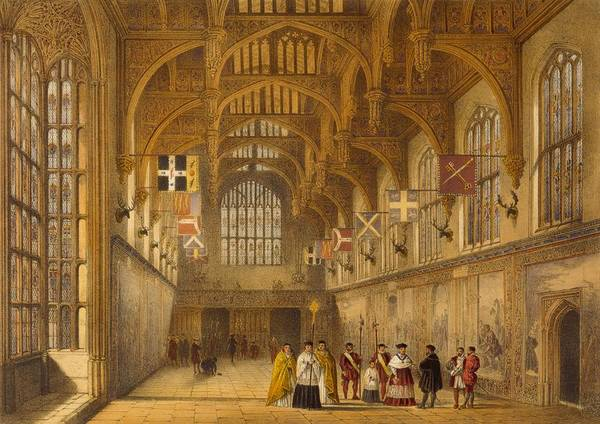 Beam Drawing - The Hall, Hampton Court, C.1600 by Joseph Nash