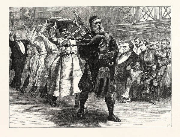 Wall Art - Drawing - The Halloween Dinner  Of The London Scottish Volunteers by English School