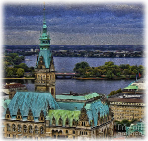 Wall Art - Photograph - The Hamburg Rathaus by Lee Dos Santos