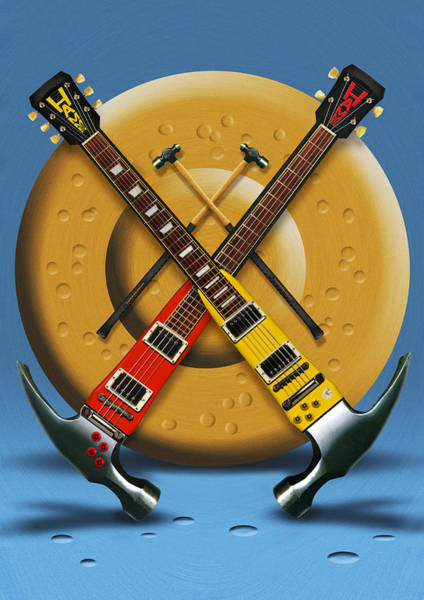Electric Guitar Wall Art - Photograph - The Hammer by Mike McGlothlen