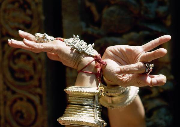 Gesture Photograph - The Hands Of A Woman During An Indian Dance by Arnaud de Rosnay