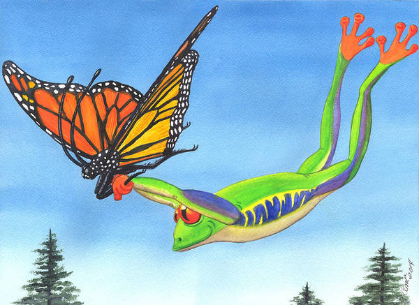 Painting - The Hang Glider by Catherine G McElroy