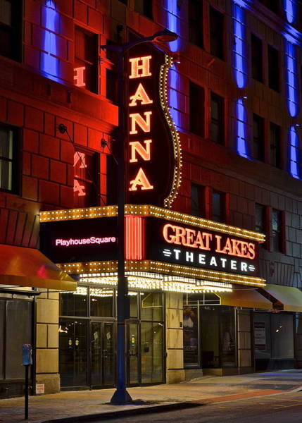 Playhouse Photograph - The Hanna Theater In Playhouse Square by Frozen in Time Fine Art Photography
