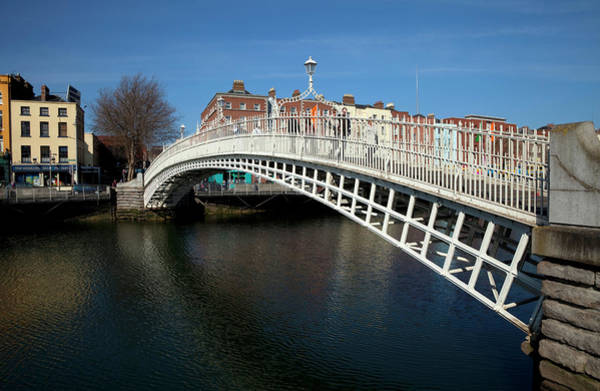 River Liffey Wall Art - Photograph - The Hapenny Bridge Originally Called by Panoramic Images