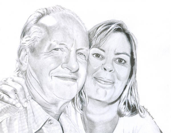 Drawing - The Happy Couple by Ana Tirolese