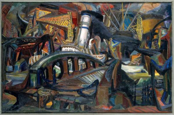 Central America Painting - The Harbor by Josef Presser