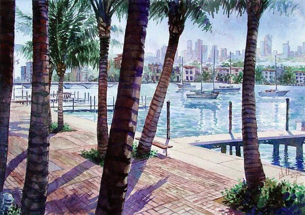 The Harbor Palms Art Print