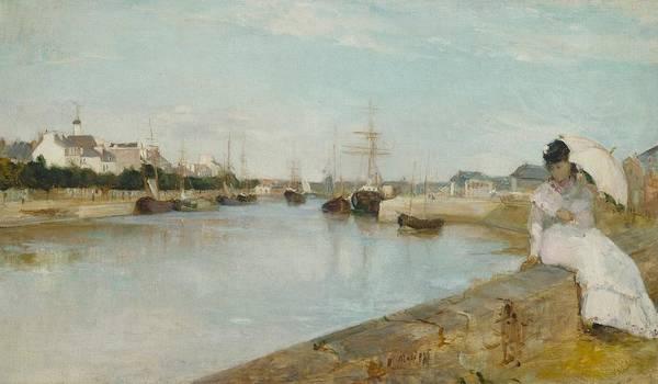 Subtle Painting - The Harbour At Lorient by Berthe Morisot