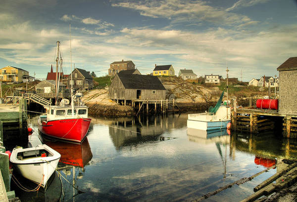The Harbour At Peggys Cove Art Print