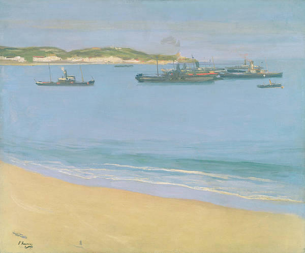 Pyrenees Painting - The Harbour At St. Jean De Luz - Early by Sir John Lavery