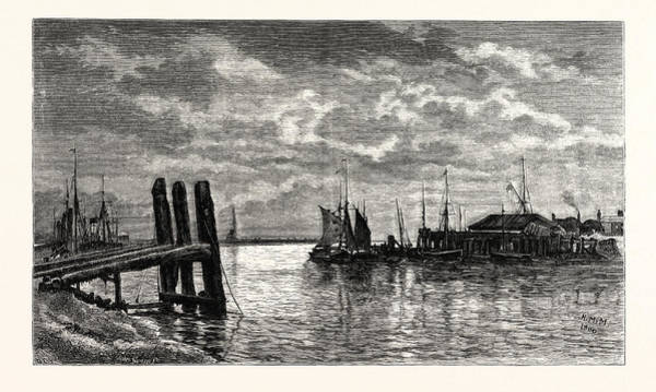 Wall Art - Drawing - The Harbour, Rye, Uk, Britain, British, Europe by English School