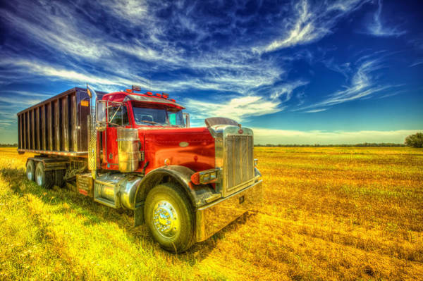 Semi Truck Photograph - The Harvest Truck by  Caleb McGinn