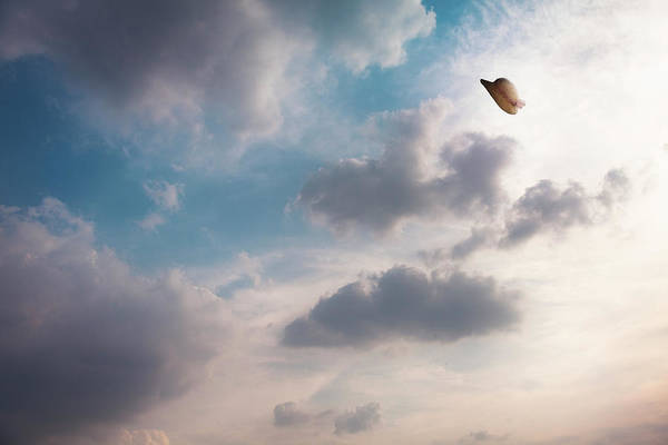 Sun Hat Photograph - The Hat Flying In The Sky by Hiroshi Watanabe