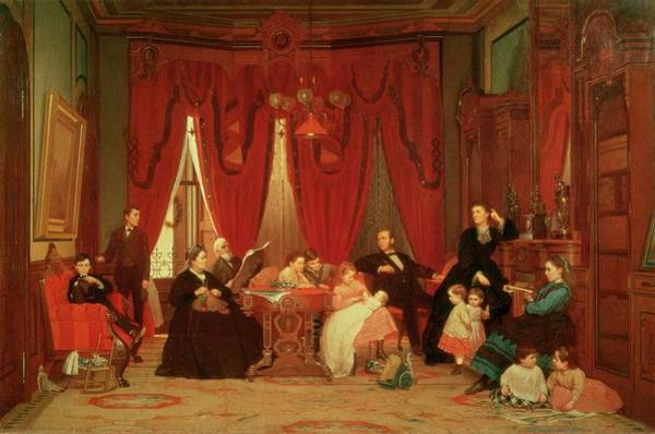 Drapes Painting - The Hatch Family by Eastman Johnson