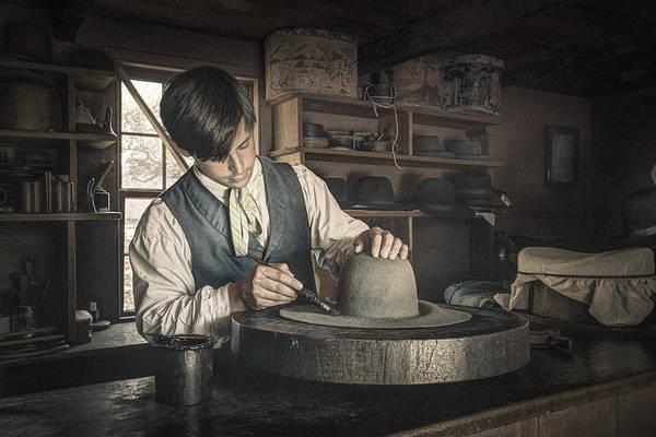 Photograph - The Hatter - Millinery - Hatmaking by Gary Heller