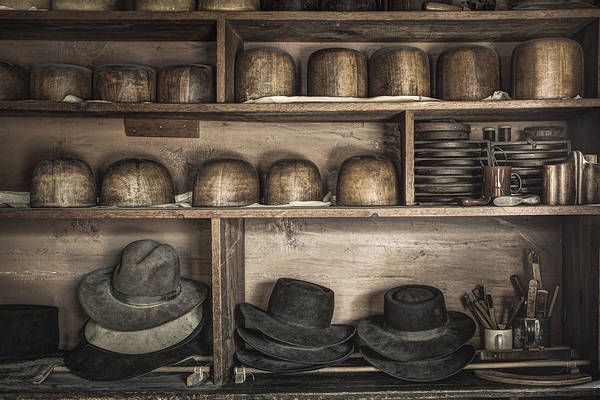 Photograph - The Hatters Shelves 1- 19th Century Hatters Shop by Gary Heller