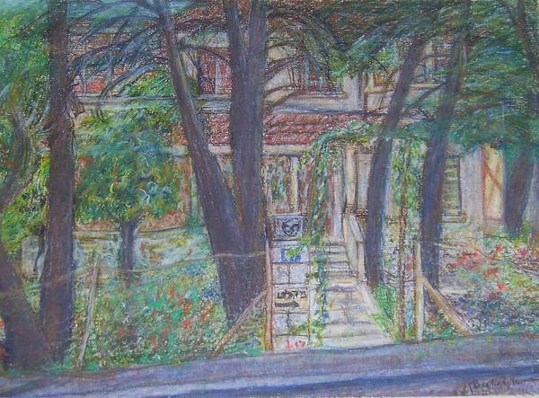 Haunted House Drawing - The Haunted House In Talpiot Jerusalem by Esther Newman-Cohen