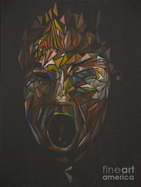 Painting - The Head Of Goliath - After Caravaggio by James Lavott