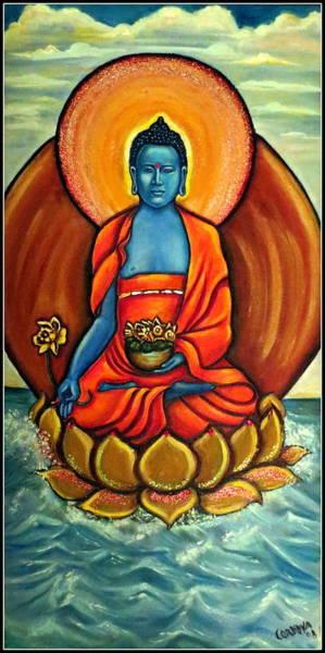 Chinese Buddha Painting - The Healing Buddha by Carmen Cordova