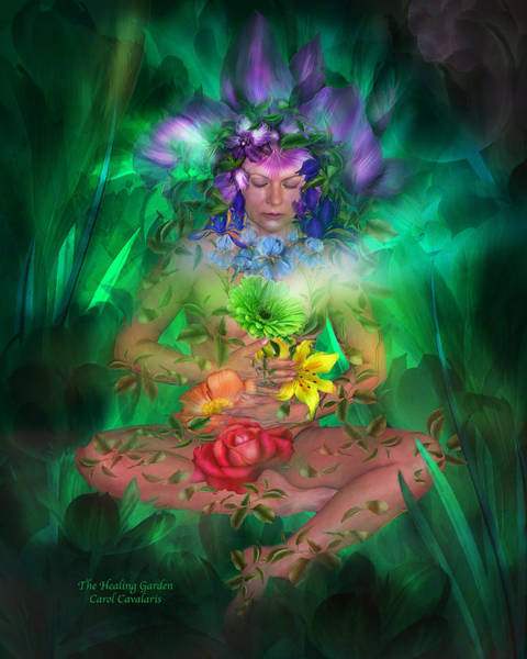 Mixed Media - The Healing Garden by Carol Cavalaris