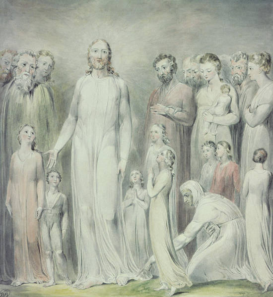 Redemption Painting - The Healing Of The Woman With An Issue Of Blood by William Blake