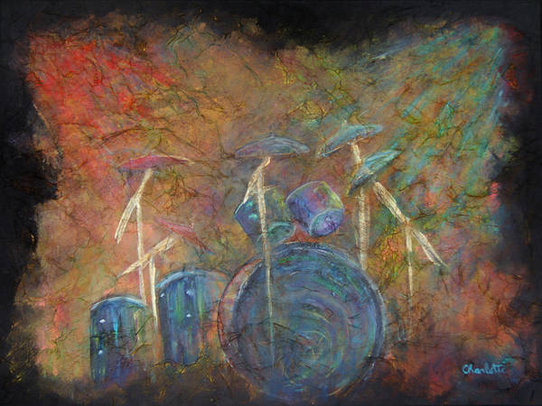 Drummer Painting - The Heart Beat  by The Art With A Heart By Charlotte Phillips