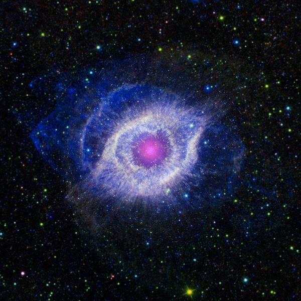 Photograph - The Helix Nebula by Adam Romanowicz