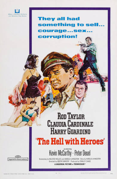 Rod Taylor Photograph - The Hell With Heroes, L-r Claudia by Everett