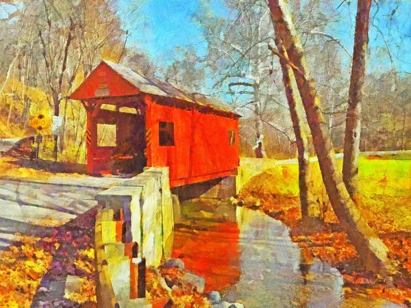 Digital Art - The Henry Bridge At Mingo Creek Park 3 by Digital Photographic Arts