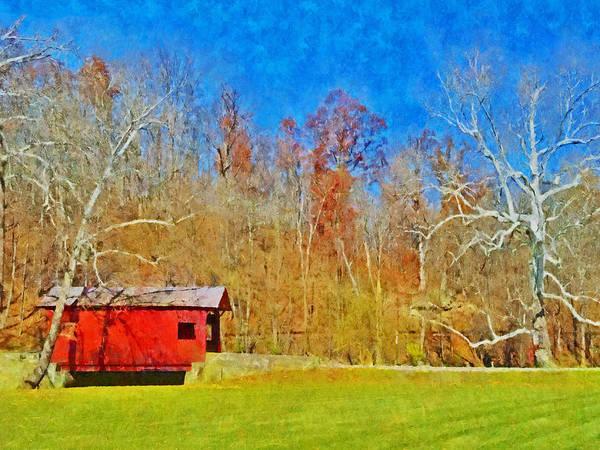 Digital Art - The Henry Bridge At Mingo Creek Park 4 by Digital Photographic Arts