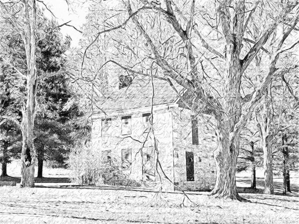 Digital Art - The Henry House In Mingo Creek Park by Digital Photographic Arts