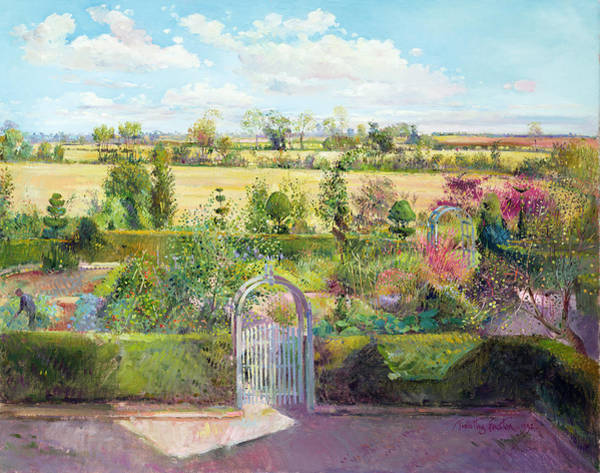 Shade Garden Wall Art - Painting - The Herb Garden After The Harvest by Timothy Easton