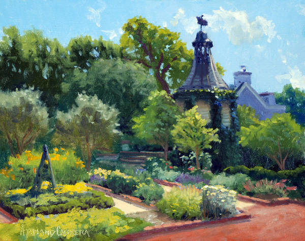 Ch Painting - The Herb Garden by Armand Cabrera